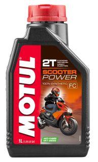Motul 1L Scooter Power 2T olje helsyntetisk