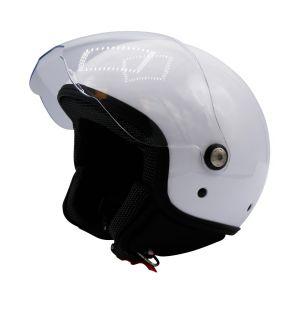 Hjelm åpen med visir hvit